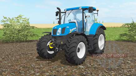 New Holland T6.160 vivid cerulean for Farming Simulator 2017