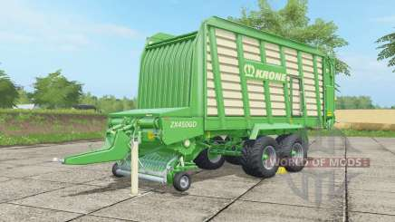 Krone ZX 450 GD malachite for Farming Simulator 2017