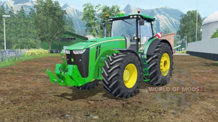 John Deere 8370R vivid malachite for Farming Simulator 2015