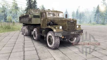 KrAZ 255 8x8 custom v1.1 for Spin Tires