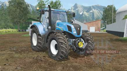 New Holland T7.240 spanish sky bluᶒ for Farming Simulator 2015