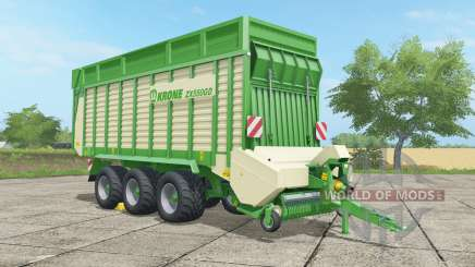 Krone ZX 550 GD malachite for Farming Simulator 2017
