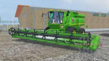 John Deere S690i dark pastel green for Farming Simulator 2013