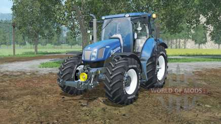 New Holland T6.160 lowering tire pressure for Farming Simulator 2015