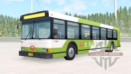 Wentward DT40L Green Beijing Bus for BeamNG Drive