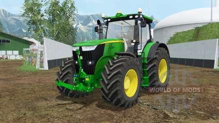 John Deere 7310R vivid malachite for Farming Simulator 2015