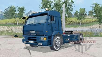 KamAZ-5460 dark blue color for Farming Simulator 2015