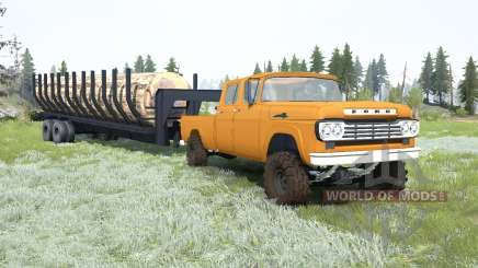Ford F-350 Crew Cab 1959 for MudRunner