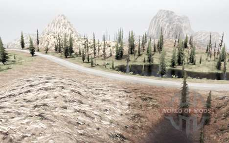 On the border of Utah and Nevada for Spintires MudRunner