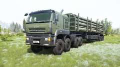 KamAZ-65228 grayish-green color for MudRunner