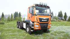 MAN TGS cadmium orange for MudRunner