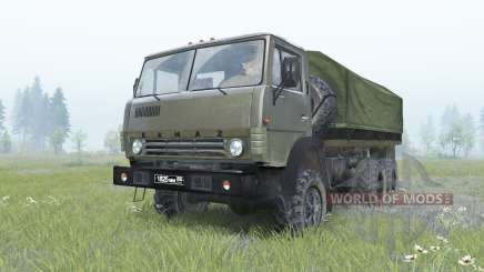 KamAZ-4310 dark green color for Spin Tires