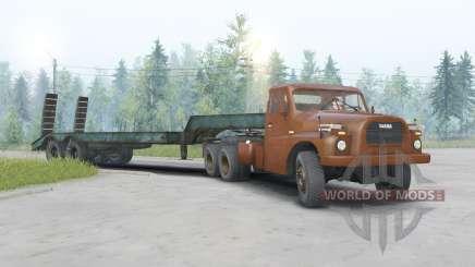 Tatra T148 6x6 v1.2 dark orange color for Spin Tires