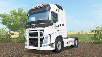 Volvo FH16 750 anti flash white for Farming Simulator 2017