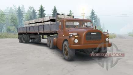 Tatra T148 6x6 v1.1 cherry color for Spin Tires