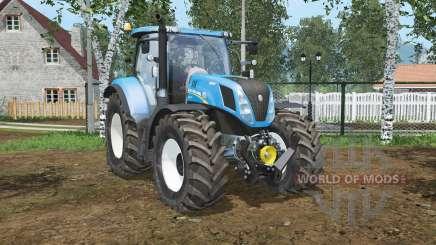 New Holland T7.240 spanish sky blꭒᶒ for Farming Simulator 2015