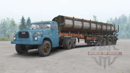 Tatra T148 6x6 v1.2 blue color for Spin Tires