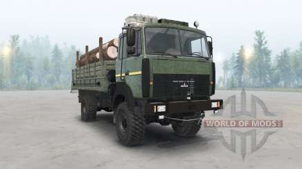 The MAZ-5316 dark green color for Spin Tires