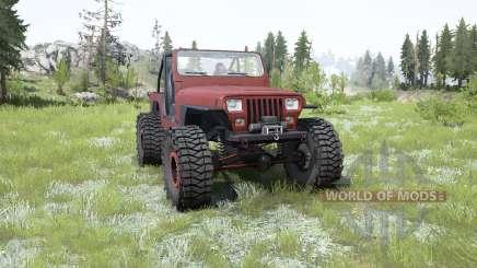 Jeep Wrangler (YJ) pale carmine for MudRunner