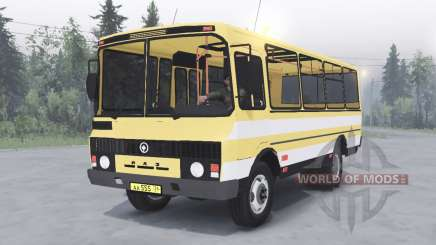 PAZ-3205 v1.2 yellow color for Spin Tires