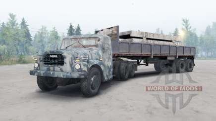 Tatra T148 6x6 v2.2 blue camouflage for Spin Tires
