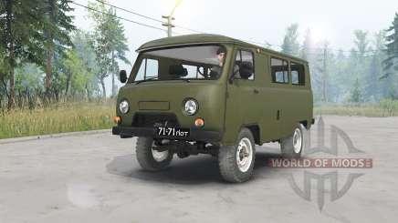 UAZ-452 dark grayish-green for Spin Tires