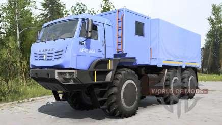 KamAZ-6345 Arctic soft blue for MudRunner