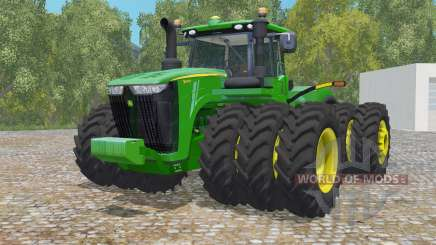 John Deere 9620R triple wheelȿ for Farming Simulator 2015