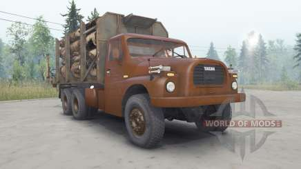 Tatra T148 6x6 v2.2 cherry color for Spin Tires