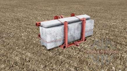 Homemade counterweight for Farming Simulator 2017
