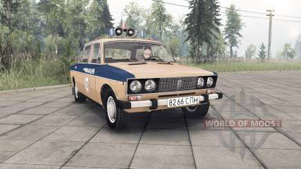 VAZ-2106 Lada Police Soviet Union for Spin Tires