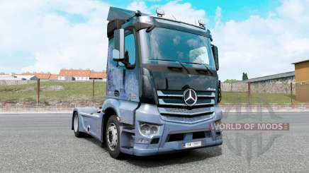 Mercedes-Benz Antos 1832 moonstone blue for Euro Truck Simulator 2