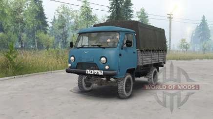 UAZ-452Д dark blue color for Spin Tires