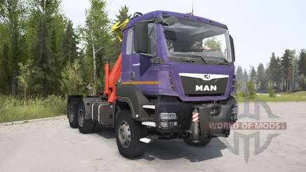 MAN TGS 2007 dark lavender for MudRunner