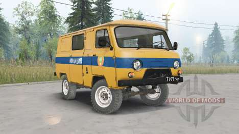 UAZ-3962 USSR Police for Spin Tires