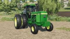 John Deere 4640 dual rear wheels for Farming Simulator 2017