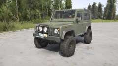 Land Rover Defender 90 Station Wagon Army for MudRunner