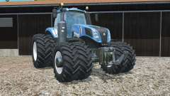 New Holland T8.320 zwillingsbereifunǥ for Farming Simulator 2015