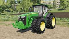 John Deere tractors with added Row Crop wheels for Farming Simulator 2017