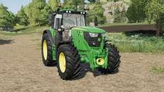 John Deere 6M-series front hydraulics installed for Farming Simulator 2017