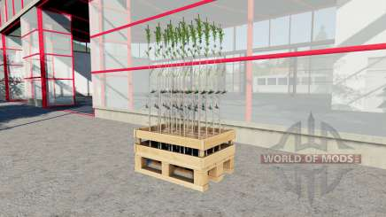 The tray of sixty tree seedlings for Farming Simulator 2017
