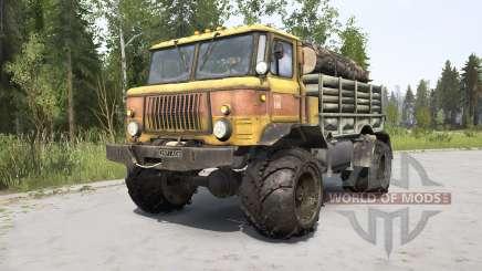 GAZ-66 orange for MudRunner
