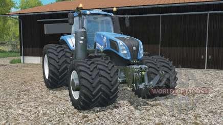 New Holland T8.320 added dual wheels for Farming Simulator 2015