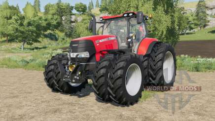Case IH tractors with added Row Crop wheels for Farming Simulator 2017