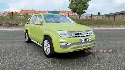 Volkswagen Amarok Double Cab 2016 olive green for Euro Truck Simulator 2