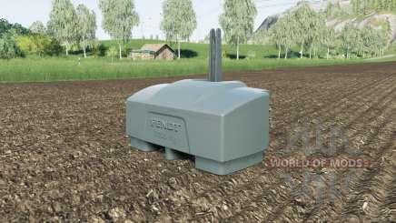 Fendt weight 10000 kg. for Farming Simulator 2017