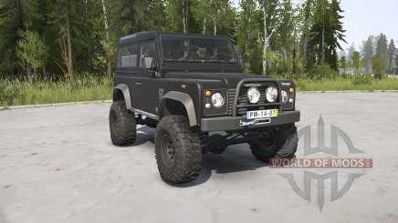 Land Rover Defender 90 Station Wagon black for MudRunner