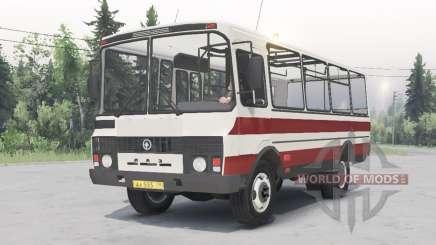 PAZ-3205 v1.2 white-red color for Spin Tires