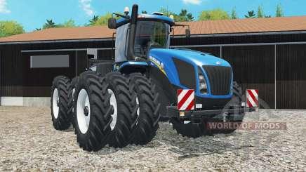 New Holland T9.565 triple row crop for Farming Simulator 2015