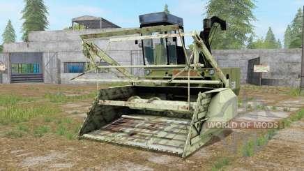 Fortschritt E 281-E with 3 attachable headers for Farming Simulator 2017